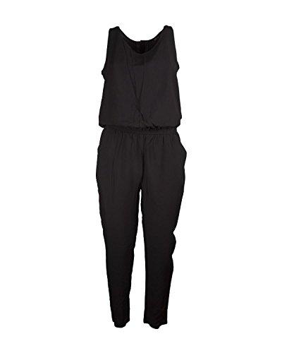ONLY Damen Jumpsuit Overall Einteiler Jumpsuit Unifarben Basic (S, Black)