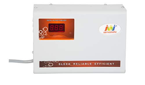 Servomate Copper 4 KVA Automatic Stabilizer for Upto 1.5 Ton AC 170  270 V  Ivory, 10 inch  Stabilizers