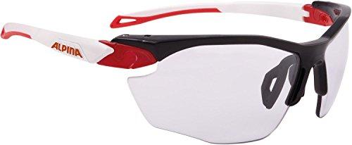 ALPINA Erwachsene Twist Five HR VL+ Sportbrille, Black-red-White, One Size