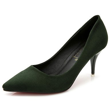 Moda Donna Sandali Sexy donna tacchi Primavera / Estate / Autunno / Inverno Comfort Felpa casual Stiletto Heel Altri / nero Green