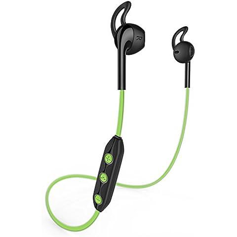 Honstek H1 Wireless Bluetooth 4.1 Deportes Auriculares, auriculares, auriculares, auriculares, auriculares para iPhone, Samsung Galaxy, teléfonos Android, ordenadores portátiles, tabletas, escritorio y Smart TV