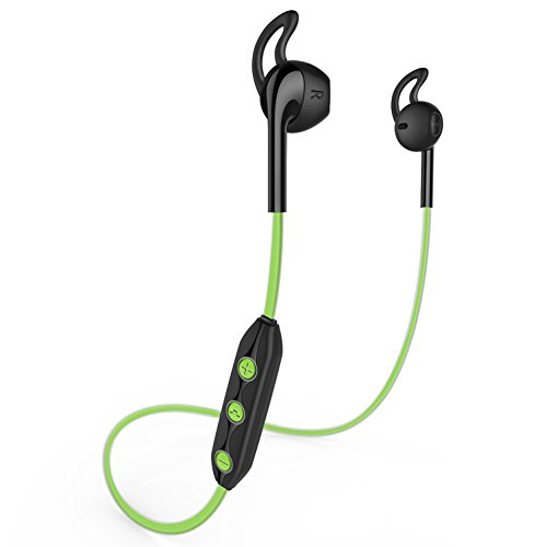 Honstek H1 wireless Bluetooth 4.1 Sport cuffie, auricolare, auricolari per iPhone, Samsung Galaxy, telefoni Android, laptop, tablet, desktop e Smart TV (Nero/Verde)