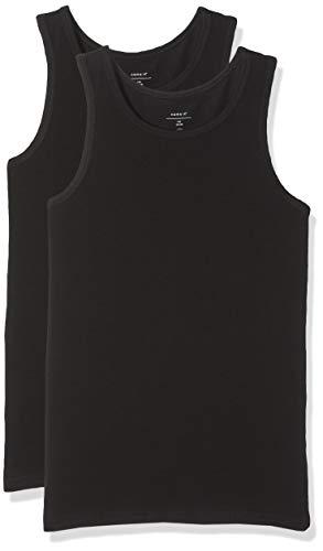 NAME IT Jungen NKMTANK TOP 2P NOOS T-Shirt, Schwarz (Schwarz Black), 122 (2er Pack)