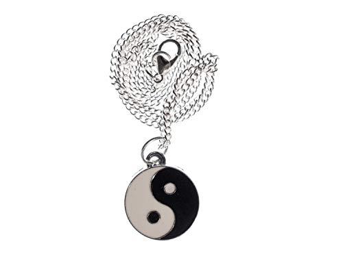 Miniblings Yin Yang Kette Halskette 45cm Tao Feng Shui TCM Gegensätze Daoismus