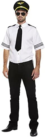 Airline Pilot Costume De Déguisement - Fancy Me - costume pilote captain uniforme