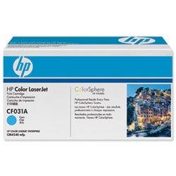 Hp Ergiebigkeit (Nagelneu. Hewlett Packard [HP] CM4540Laser Toner Cartridge Seite Ergiebigkeit 12500pp cyan Ref CF031A)