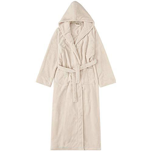 DUJX Herbst und Winter Flanell großen Bademantel mit Kappe Verdickung Robe Männer und Frauen Pyjamas Hotel Paar Bademantel