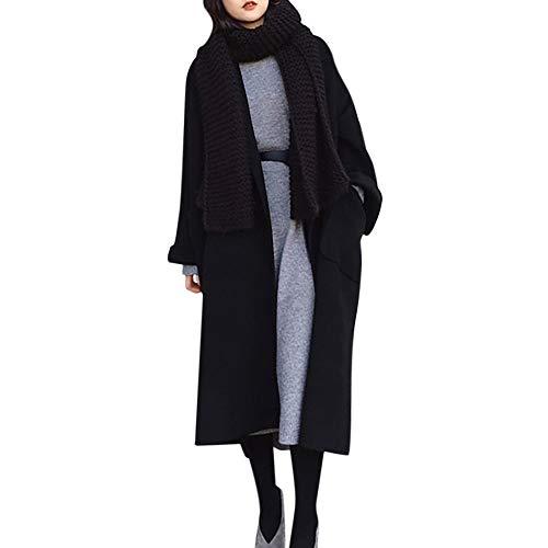 57627f4466f533 VEMOW Herbst Winter Elegante Damen Cashmere-Like Dicker Jacke Outwear Parka  Cardigan Casual Täglichen Business Schlank Mantel(X2-a-Schwarz