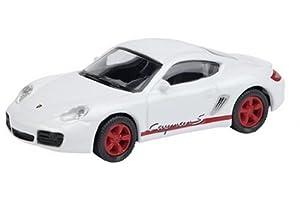 Schuco 452554300 Edition 1:87 - Porsche Cayman S Blanco y Rojo,