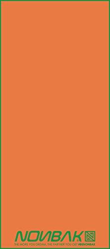 Nonbak Sporthandtuch Mikrofaser mit Biese/Orange/40x 90cm (Orange Gestreifte Badetuch)
