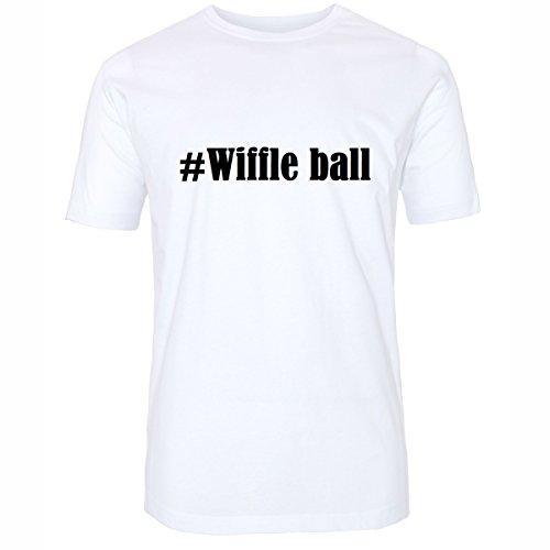 T-Shirt #Wiffle Ball Größe 2XL Farbe Weiss Druck schwarz