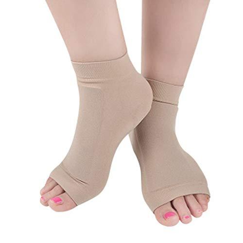 2 Paar Knöchel Malleolar Sleeves - Knöchel-Knöchelschutz gepolsterte Socken Knöchel-Gel-Pads zum Abfedern von Knöcheln beim Eiskunstlauf, Hockey, Inline, Roller, Ski, Wandern oder Reitstiefeln