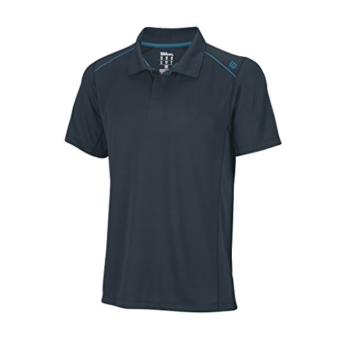 Wilson, Polo da tennis Uomo Nvision Elite, Grigio (Coal/Ultramarinee), S Grigio (Coal/Ultramarinee)