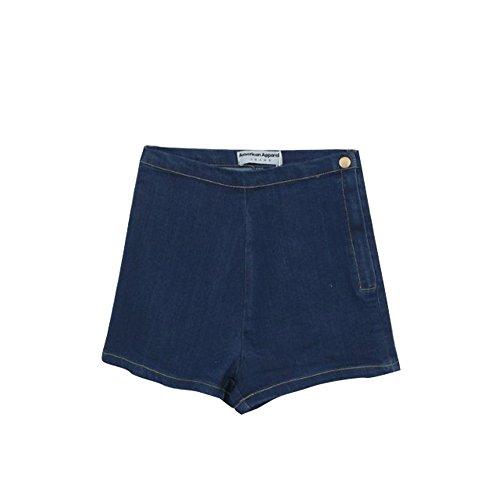 JOTHIN Damen Jeans Kurze Hose Hot Pants Hüftjeans Einfarbige Shorts Dunkelblau