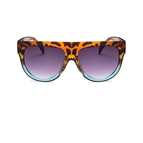 ZHOUYF Sonnenbrille Fahrerbrille Flache Oberseite, Super Große Quadratische Sonnenbrille, Damen-Sommerwechsel, Klassische Sonnenbrille Für Damen, Brille Uv400, E