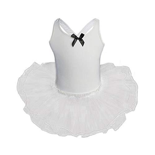 Xmiral Tutu Abito Vestito Abiti Senza Maniche Cosplay Costume Ragazza Abito Festa Cosplay Costume Bambin Festa Cosplay Abito da Sposa Vestito della Principessa Altezzat:100CM Bianco