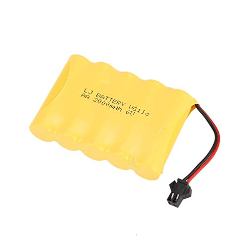 Wenwenzui 6V 2000mAh Battery for RC 1/16 Crawler Car WPL B-1/B-24/C-14/C-24/B-16 Parts Yellow