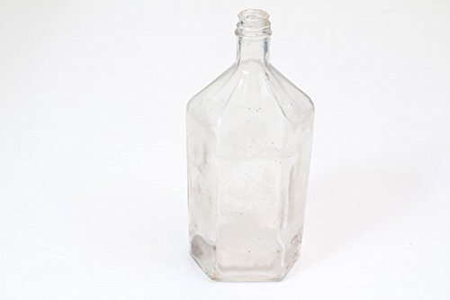 vintage13.de alte Große Flasche Medizin Arzt Apotheke Durchsichtig Deko 25 cm Hoch lebertran