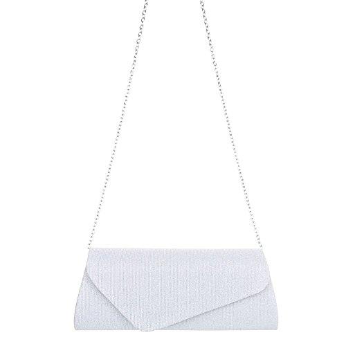 Taschen Used Optik Schultertasche Modell Nr.1 Silber
