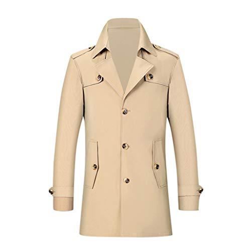 Trenchcoat Herren Casual Trenchcoat Fashion Schwarzer Mantel Herren Business Long Slim Overcoat Jacke Outwear