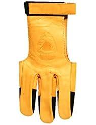 Old tradition–Guante 3dedos (100% piel para el tiro con arco–Modelo ambidextro–Talla Xsmall.