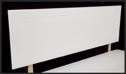 "4'6"" Double Wooden Headboard - White"
