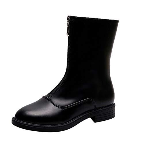VECDY Schuhe Damen Boots Mode Stiefel Schlange Gemalt Sexy Spitzen Stiefeletten Zehen Bogen Pfennigabsatz Lässige Booties 35-40 -