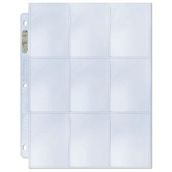Trading Card A4 Sleeves - 25 Ultra Pro 9 Pocket Platinum Pages MTG/Pokemon. by Ultra Pro Platinum Series Nine Pocket Pages