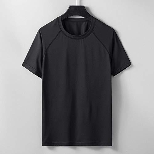 Noctiflorous Men's Fitness Functional Sportswear,schnelltrocknendes Sport-T-Shirt für Herren,lose Laufsportarten im Freien,Kurze Ärmel,Black_M,Geeignet für Bewegung und Training