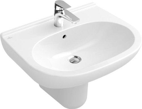 Villeroy & Boch Waschtisch O.novo 516065 650x510mm mittl Hl. durchgest mit Ül. weiß c, 516065R1