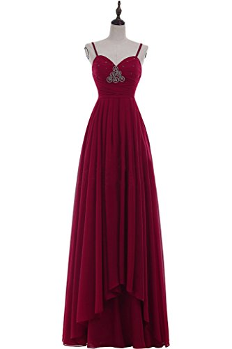 Missdressy - Robe - Trapèze - Femme rouge bordeaux