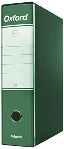 Esselte Raccoglitore Oxford con meccanismo a leva e con custodia, Formato Commerciale, Cartone, Dorso 8 cm, Verde, 390783180