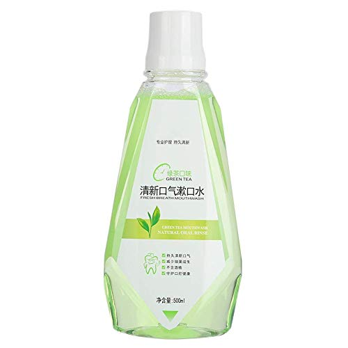 E-CHENG Mouthwash,Mouth Freshener Fluoride-Free Oral Care to Prevent Bad Breath Tartar Build-Up and Gum Diseas Green Tea 500 mL