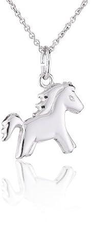 Xaana Kinder-Anhänger Pony incl Kette 3638 cm rhod 925 Sterling
