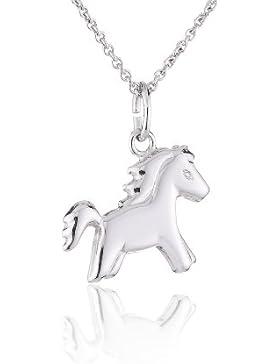 Xaana Kinder-Anhänger Pony incl Kette 3638 cm rhod 925 Sterling Silber AMZ0045
