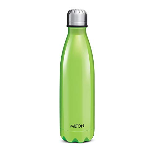 Milton Thermosteel Duo DLX 1000ml Insulated Steel Bottle - Green