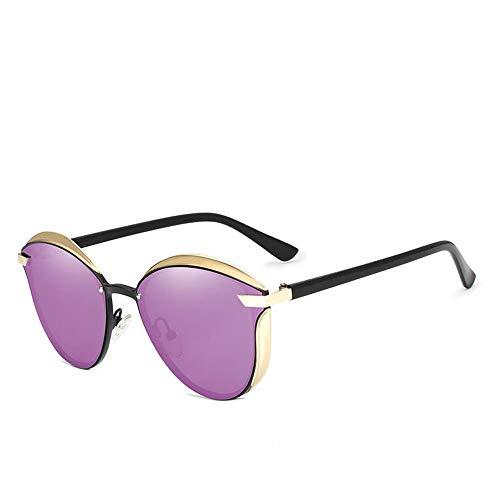 ZHOUYF Sonnenbrille Fahrerbrille Cat Eye Sonnenbrillen Damen Polarized Fashion Lady Sonnenbrillen Damen Vintage Tone, D