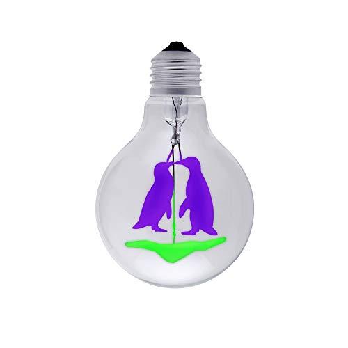 DarkSteve - Pinguin Land Glühbirne - Edison Vintage Glühbirne G80 E27-Fassung, 3 W. 220-240 V Dekorative Glühbirnen, Puristisch, brillant und markant – diese Leuchten bringen Inspiration ins Dunkel.