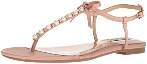 Badgley Mischka Damen Honey Flache Sandale, dunkelrosa, 38.5 EU -