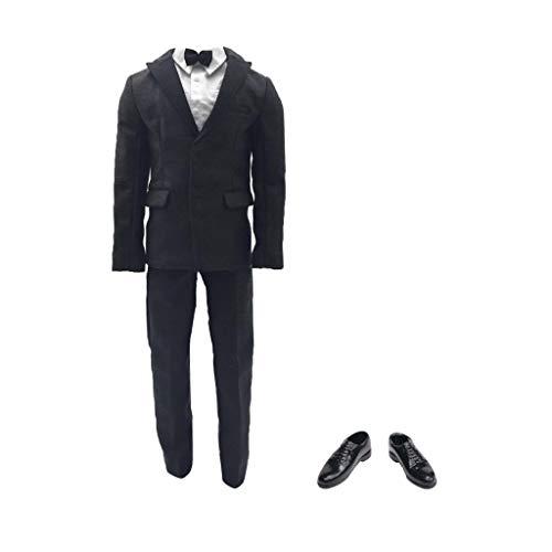 KESOTO 1/6 Männliche Männer Anzug Kleidung mit Lederschuhe Set für 12 Zoll Acitonfiguren