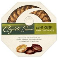 Elizabeth Shaw Dark Mint Crisp Chocolates 175g - dunkle Knusperschokolade mit Minze-Geschmack