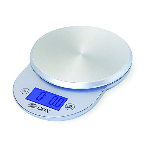 CDN SD1104-S ProAccurate Digital Kitchen Scale, 11 lb, Silver