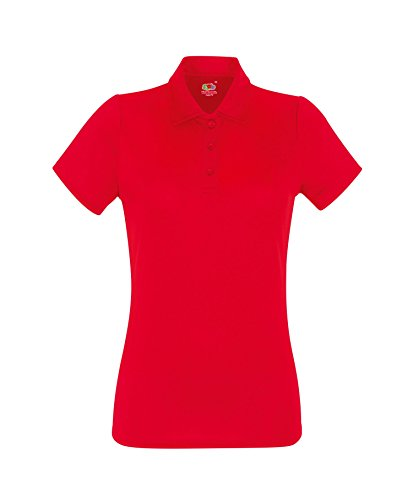 Camicia Polo Donna Performance Polo Shirt Lady-Fit Poloshirt Red