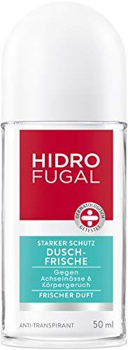 Hidrofugal Dusch-Frische Roll-On, Deo-Roller mit Frischeduft, Anti-Transpirant Deo für wirksamen Schutz gegen Schweiß, 5er-Pack (5 x 50 ml)