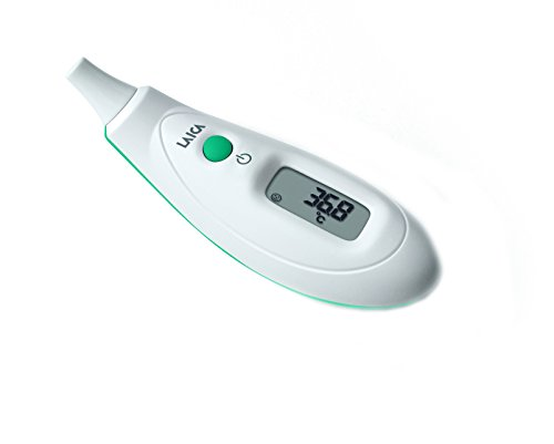 Laica th2002e termometro ad infrarossi auricolare, bianco/verde