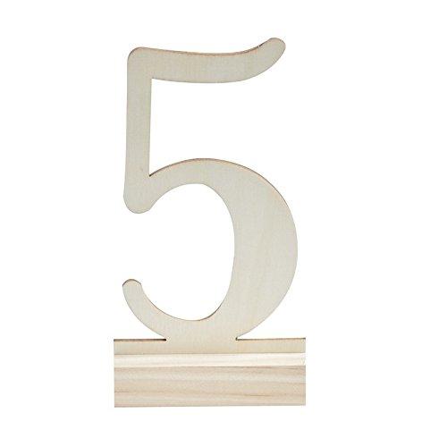 Tischnummern 1-12 aus Holz - 2