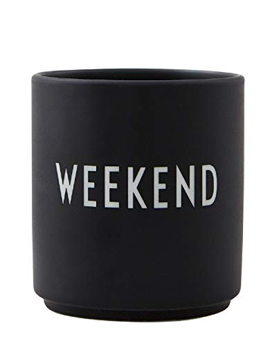 Design Letters - Favourite Becher Weekend -Tasse/Becher - Bone China Porzellan - Ø 8cm x H: 8,5cm - Spülmaschinenfest Design Becher