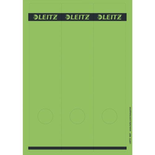 Preisvergleich Produktbild Leitz 16870055 Rückenschild selbstklebend PC, Papier, lang, breit, 75 Stück, grün
