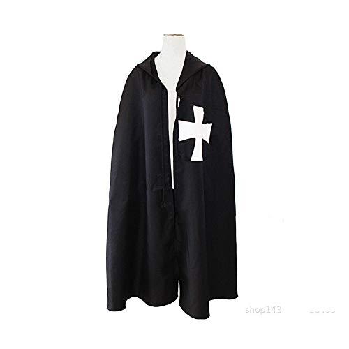 Kostüm Römischen Reiches - Proumhang Mittelalter Krieger Cosplay Römisches Reich Cosplay Kostüm Kleid-Schwarz,XL