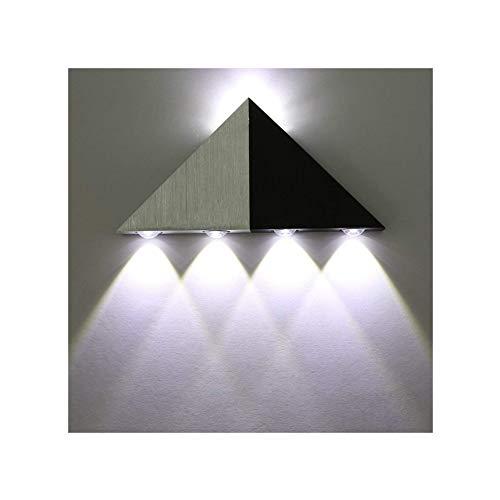Lightess Apliques de Pared Pirámide Triangular Lámpara de Pared 5 LED 5W, Lámpara en Moda de Puro...